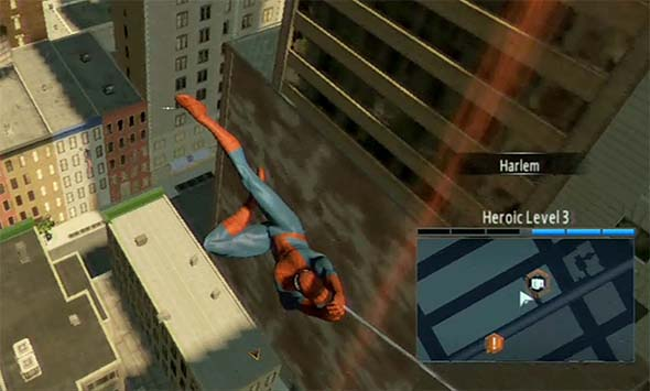 Amazing Spider-Man 2 game - web-swinging