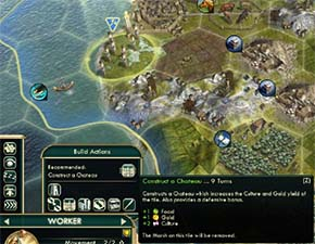 Civilization V - Chateau next to sea resource