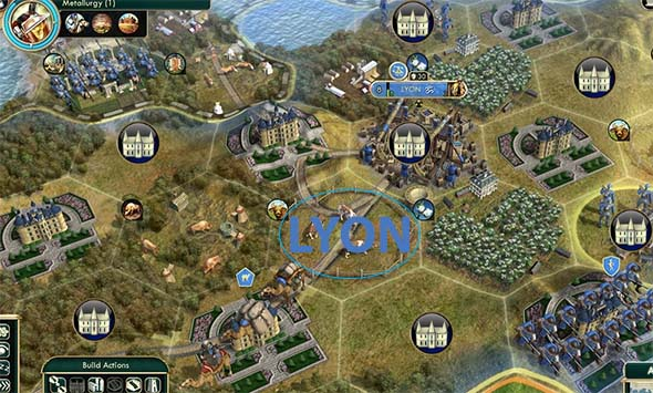 Civilization V - Chateau placement