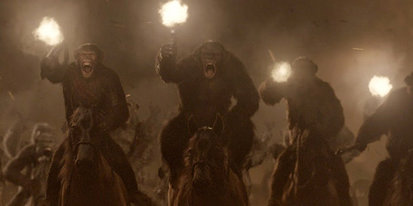 Dawn of the Planet of the Apes - ape cavalry