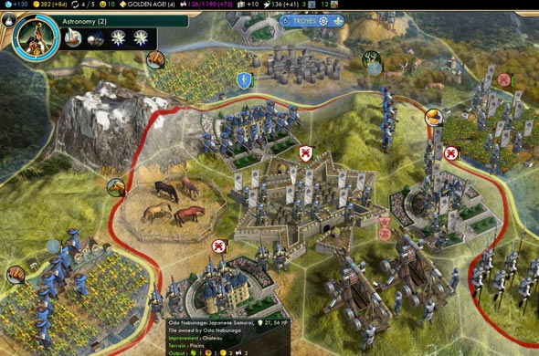 Civilization V - Stealing Chateaux with Citadels