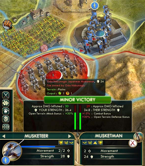 Civilization V - Musketeer warfare