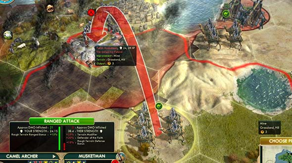 Civilization V - mopping up with Camel Archer