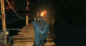 Dark Souls II - No Man's Wharf with torch