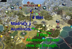 Civilization V - already-owned territory for a new city