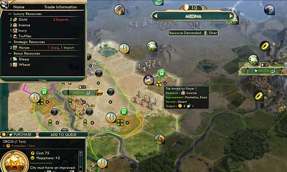 Civilization V - Arabian Bazaar duplicate resource