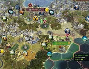 Civilization V - traded city has only adjacent tiles