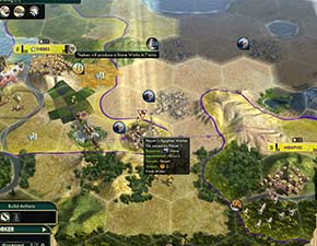 Civilization V - 2 stone lie between Thebes and Memphis