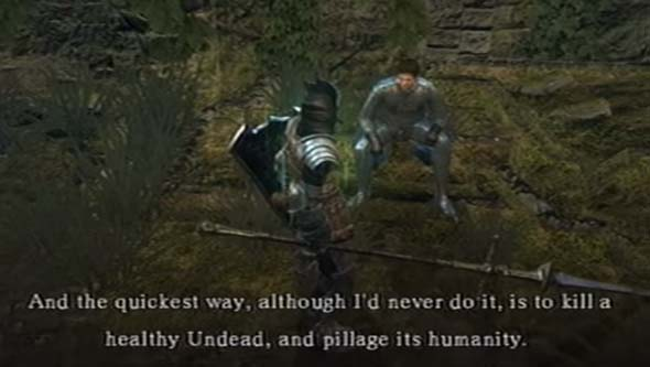 Dark Souls - Crestfallen advice: pillage humanity