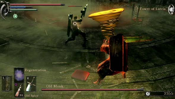 Demon's Souls - Old Monk PvP boss duel