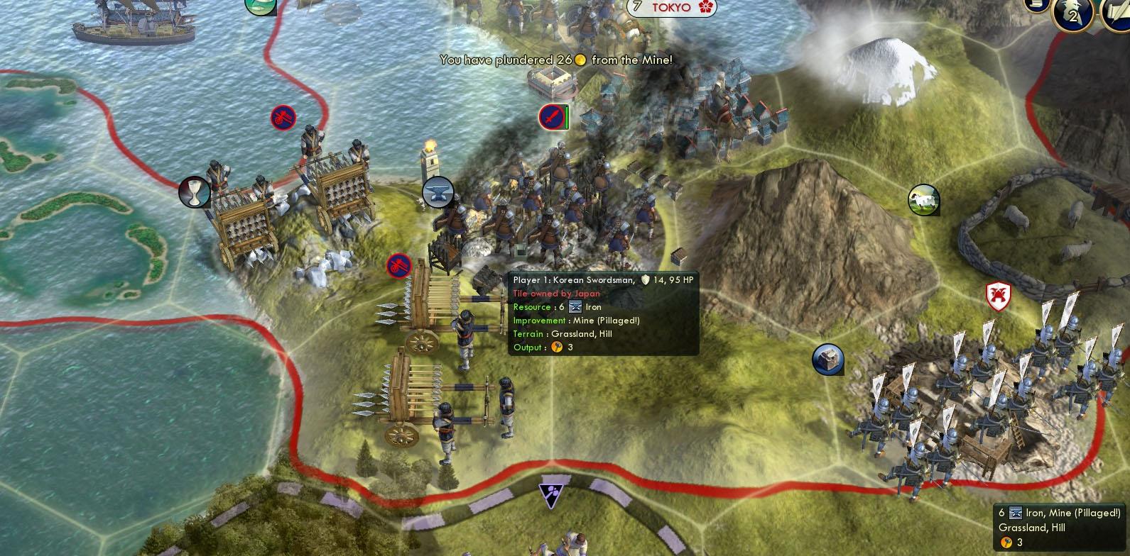 Civilization V Strategy Oda Nobunaga Lives By The Sword Mega - Japan map 5