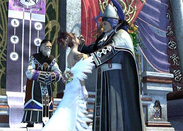 Final Fantasy X - Yuna marrying Seymour
