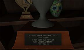 Gone Home - Kaitlin's trophies