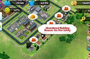 SimCity Buildi - building abandoned due to poor fire coveraget