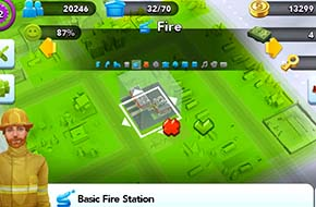 SimCity Buildit - placing fire station