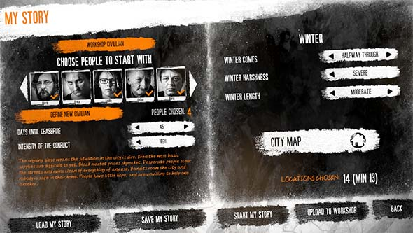 This War of Mine - story workshop