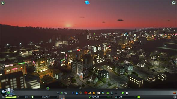Cities Skylines - day / night cycle