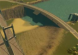 Cities Skylines - shallow dam