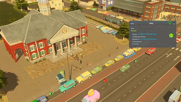 Cities: Skylines - parallel parking
