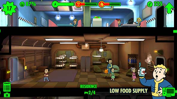Fallout Shelter - low food