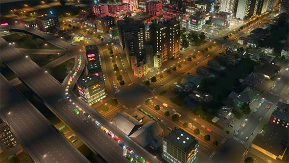 Cities Skylines - nightclub traffic