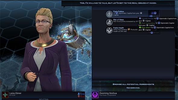 Civilization Beyond Earth: Rising Tide - diplomatic agreements