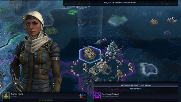 Civilization Beyond Earth: Rising Tide - A.I. refusing an agreement