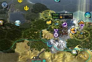 Civilization V - crossing mountains to settle