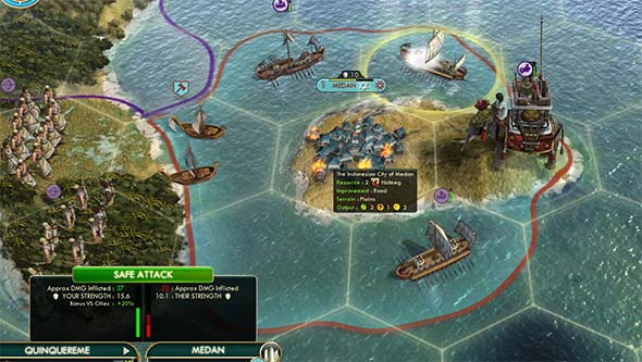 Civilization V - Quinquereme city siege