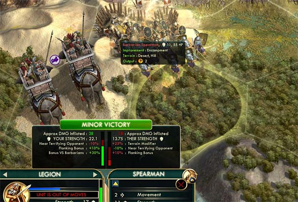 Civilization V - Feared Elephant combat penalty