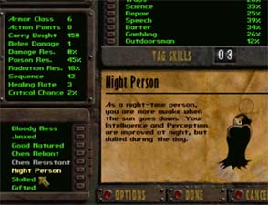 Fallout - Night Person trait