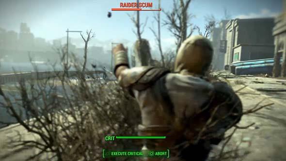 Fallout 4 как бросить гранату