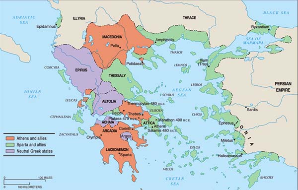 Peloponnesian war factions