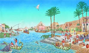 Nile River in Ancient Egypt