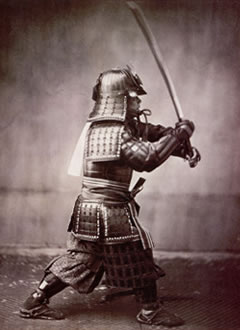 Samurai with katana