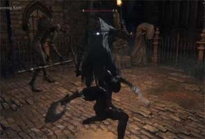 Bloodborne - charged attack backstab