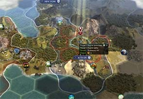 Civilization V - settler trapped by America