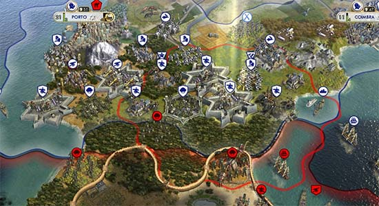 Civ V - 1upt and hexes