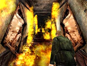 Silent Hill 2 - Angela's flaming staircase
