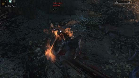 Bloodborne - PvP immolation