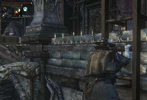 Bloodborne - pre-gen Chalice dungeon swinging blade trap