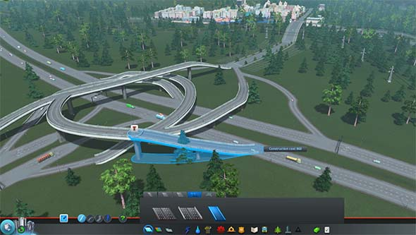Cities Skylines - highway intersection