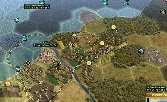 Civ V - inconvenient city state location