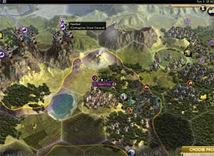 Civ V - Carthage Elephant crossing mountains