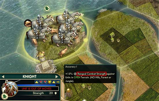 Civ V - Knight upgraded from Chariot with promotions