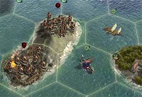 Civilization V - capturing barbarian galley