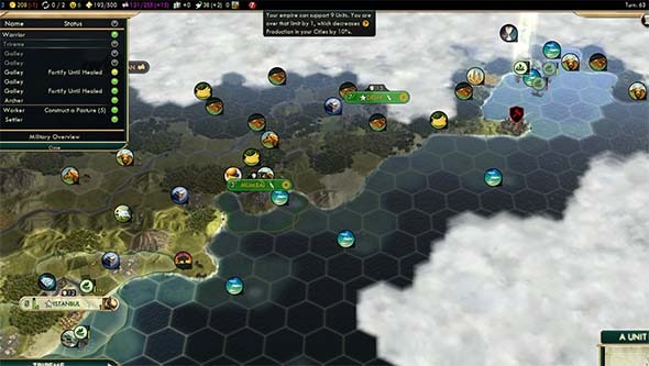 Civilization V - Ottomans harassing enemy shipping
