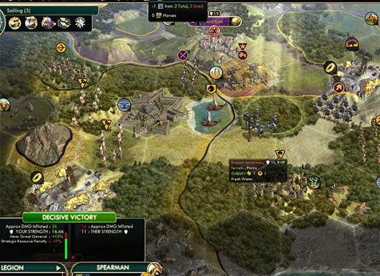 Civ V - strategic resources