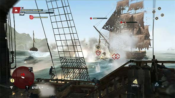 Assassin's Creed IV: Black Flag - firing cannons