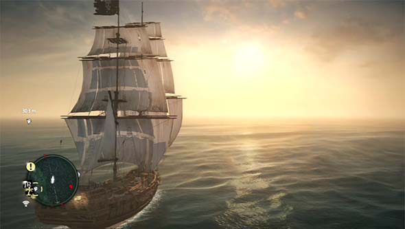 Assassin's Creed IV: Black Flag - sailing into the sunset
